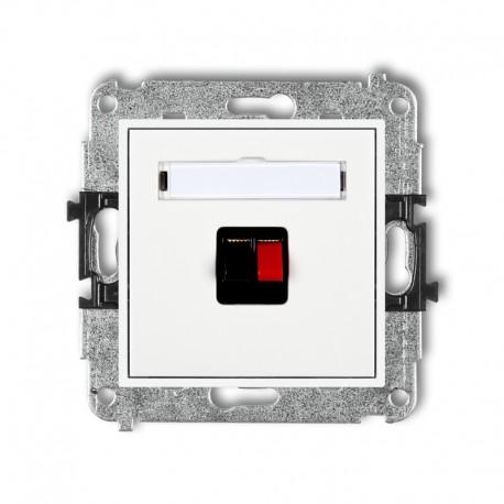 MINI Gniazdo głośnikowe pojedyncze białe MGG-1