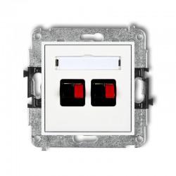 MINI Gniazdo głośnikowe podwójne białe MGG-2