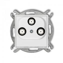 MINI Gniazdo multimedialne 3F DATA (Vectra) biały MGMV