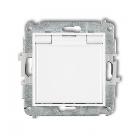 MINI Gniazdo bryzgoszczelne z/u IP44 z przesłonami klapka biała białe MGPB-1zp