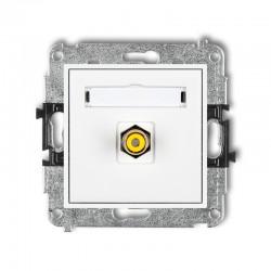 MINI Gniazdo pojedyncze RCA (typu cinch - żółty pozłacany) biały MGRCA-1