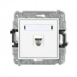 MINI Mechanizm gniazda telefonicznego pojedynczego 1xRJ11, 4-stykowy, beznarzędziowy MGT-1