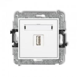 MINI Gniazdo pojedyncze USB-AA 2.0 białe MGUSB-1