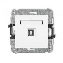 MINI Gniazdo pojedyncze USB-AB2.0 białe MGUSB-3
