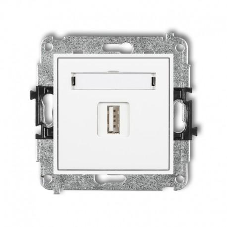 MINI Gniazdo pojedyncze USB-AA 3.0 białe MGUSB-5