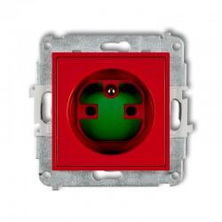 MINI Gniazdo pojedyncze z/u DATA z kluczem czerwone MGZK
