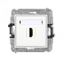 MINI Gniazdo pojedyncze HDMI biały MHDMI-1