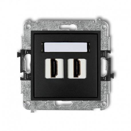MINI Gniazdo pojedyncze HDMI czarny mat 12MHDMI-2